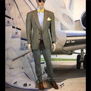 Blazer Marc Shale brown beige check wool 40r